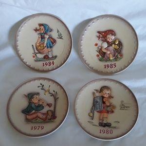 4 Vintage M.J. Hummel Collector's Plates w/ Boxes